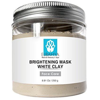 Elbahya Argilla Bianca Organic Illuminante Facial Mask - argilla profonda Pore detergente Pull tossine dalla pelle , migliora il colorito della pelle , sicuro per l