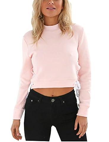 SunIfSnow - Robe spécial grossesse - Uni - Manches Longues - Femme - rose - Large