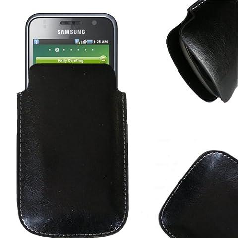 NFE Etui offen Lederetui Tasche Holster Handy Hülle Samsung i9000 Galaxy S 8GB