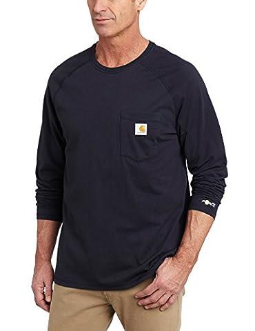 Carhartt shirt fonctionnel à manches longues, couleur:bleu marine;pointure:XXL