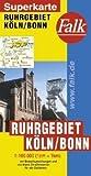 Falk Superkarte Ruhrgebiet/Köln/Bonn 1:100 000 (1cm = 1km)