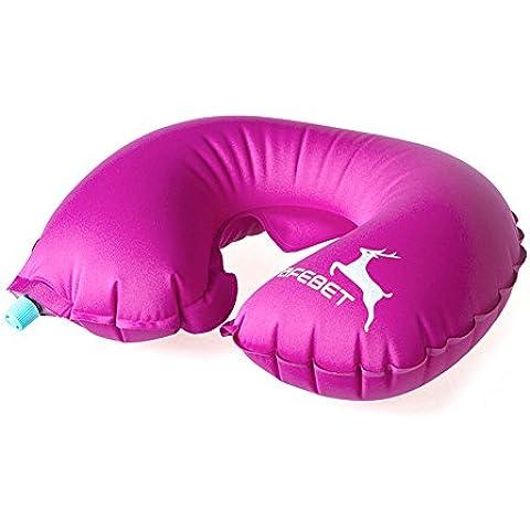 YGY viaggio gonfiabile di U cuscino Comfort sostegno del collo Cuscino (viaggio, auto, aereo, TV, Lettura)(rosso)