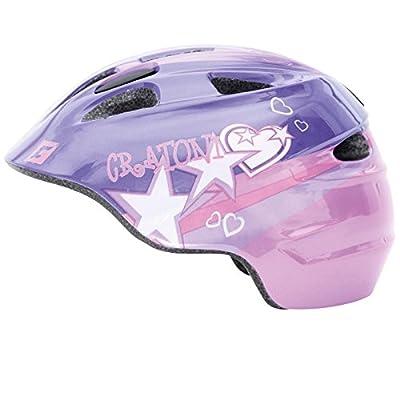 Cratoni Kinder Fahrrad Helm Akino Lila Herz Sterne Pink Reflektoren Mädchen Schutzhelm 49-58 cm, 112213A