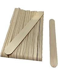 50 Spatules moyenne en bois pour épilation à la cire, visage, parties sensibles, corps