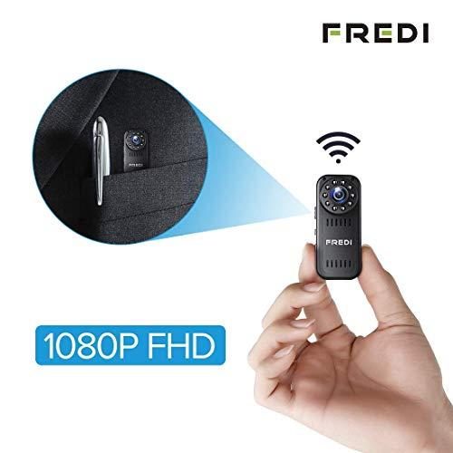FREDI HD1080P WIFI telecamera Spia videocamera nascosta Mini Microcamera spia Videocamera di sorveglianza Interno IP telecamera di sorveglianza Spy Cam WIFI Camera spia