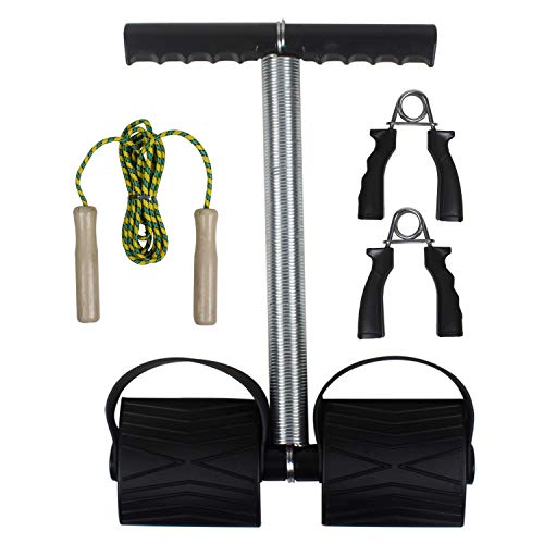 ACTIFIT Home Gym Exercise Set with Spring Tummy Trimmer, Hand Grip & Skipping Rope