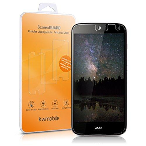kwmobile Acer Liquid Z630 Folie - Glas Handy Schutzfolie für Acer Liquid Z630 - Full Screen Display Schutz