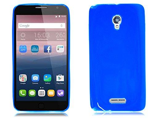 Alcatel OneTouch Pop Star OT-5022Klapphülle, für iPhone, Kunstleder Leder, Green Book Wallet, Alcatel One Touch Pop 4 5051X Blau (Blue Gel)
