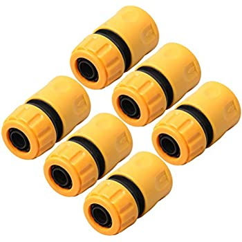 Double Male Hose Connectors Extender for Join Garden Hose Pipe Tube Yellow