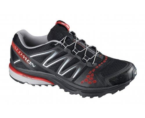 Salomon, Scarpe da Trail Running uomo Nero (Black/Grey/Red)