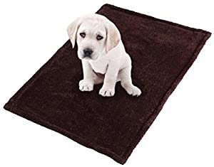 Hundedecke Fred, kuschelige Plüsch Decke für Haustiere in braun, blau, grau, flecktarn oder rot, Autodecke ca. 100 x 70 cm