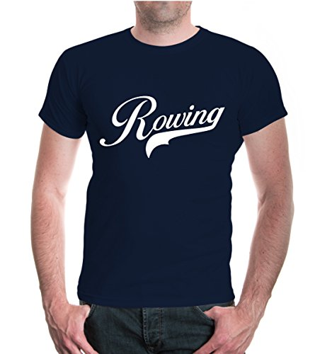 buXsbaum® T-Shirt Rowing Logo Navy-White
