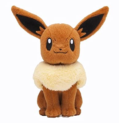 Pokemon Center Plush Toy Original Sit pose Eevee (japan import) por Pokemon