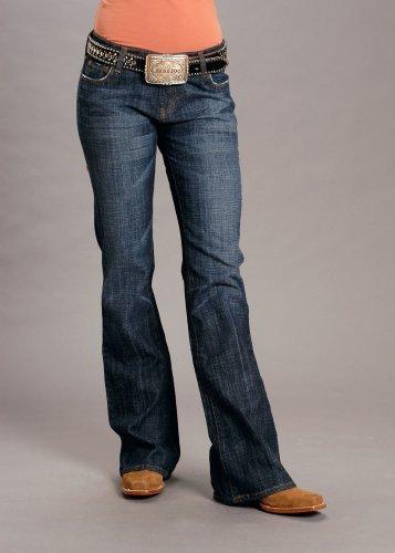 Stetson - Pantalones Vaqueros para Mujer, Estilo clásico, Talla 816, Color índigo, 11-054-0202-0036 BU - Azul - 8W x 32L
