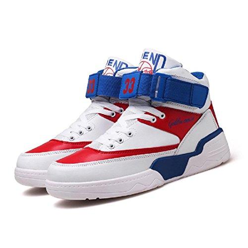 Uomo Moda Scarpe sportive È aumentato Scarpe da corsa Scarpe da pallacanestro Piede di protezione formatori Aumenta le scarpe All'aperto Antiscivolo impermeabile euro DIMENSIONE 39-44 blue