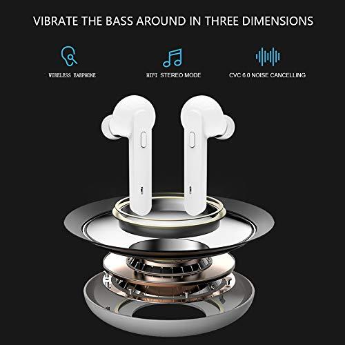 Bluetooth Kopfhörer Sport Earphones Stereo Bluetooth V5.0 In Ear True Wireless Earbuds Over Ear kabellose kopfhörer Ohrhörer HD Sound CVC 6.0 Noise Cancelling Headset mit Mikrofon für iPhone Samsung - 2