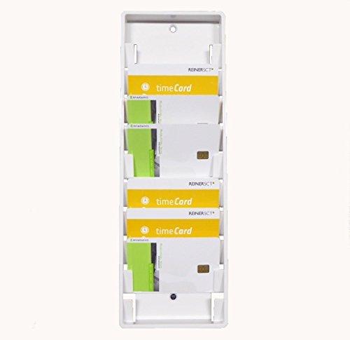 Wandhalter / Kartenhalter für 10 Benutzerkarten / Mitarbeiterkarten / User-Card *WEISS* z.B. für Zeiterfassung / Timerecording
