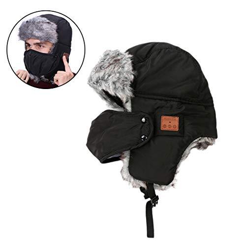 Hat Earflap Cap (Fansport WintermüTze Windproof Warm Earflap KopfhöRer Music Hat FüR Den AußEnbereich)