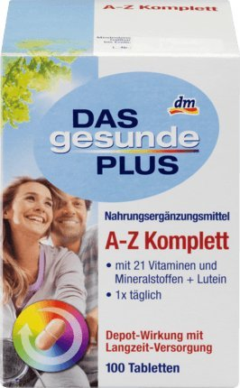 DAS gesunde PLUS A-Z Komplett Tabletten, 100 St Nahrungsergänzungsmittel -