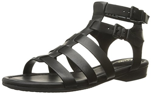 Clarks Viveca Mito Gladiator Sandal Black Leather
