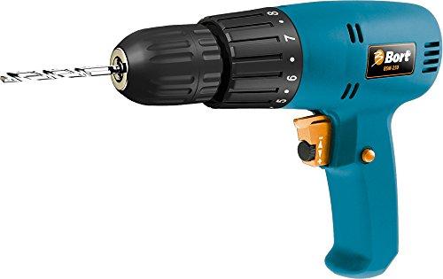 Bort BSM-250 Bohrschrauber mit 280 Watt, Schnellspannfutter 10 mm,  elektronischer Drehzahlsteuerung