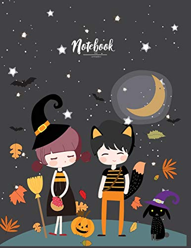Notebook: Happy halloween day with you cover and Lined pages, Extra large (8.5 x 11) inches, 110 pages, White paper (Happy halloween day with you notebook)