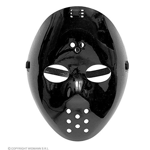 Lively Moments Schwarze Hockey Maske / Plastikmaske / Gesichtsmaske / Halloween Maske / Kostüm Zubehör