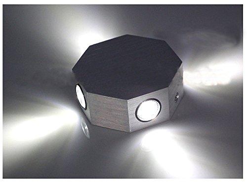 denshine (TM) économie d'énergie Forme octogonale 4 W LED blanc LED Maison Lampe murale/karaoké/porche Bar Pub Décor