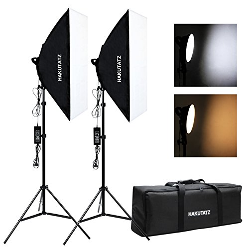 Hakutatz 50x70cm Fotostudio Softbox Set Studioleuchte LED Fotolampe