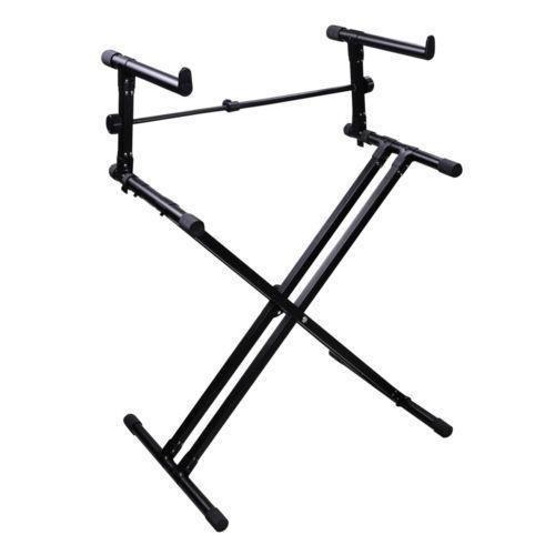 Kadence Heavy-Duty, Double-X, Adjustable Piano Keyboard Stand with Locking Straps (KSTD-DX2 Dual Braced)