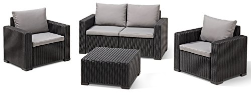 Allibert Lounge Sofa California, Grau, 2-Sitzer - 4