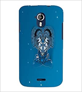 PrintDhaba Zodiac Gemini D-5605 Back Case Cover for MICROMAX A116 CANVAS HD (Multi-Coloured)