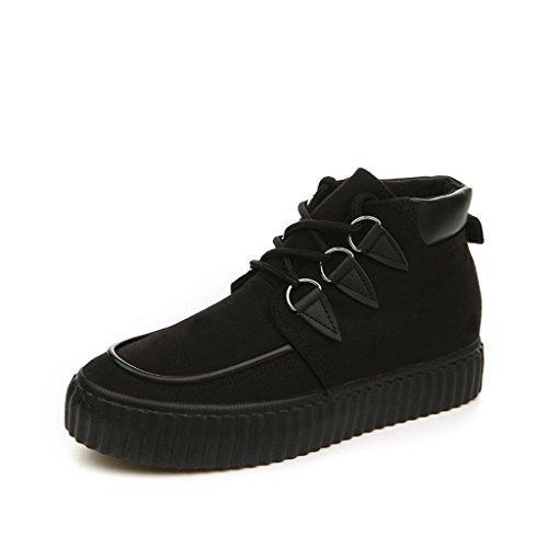 ALUK- Printemps et automne toile Chaussures Casual Shoes Chaussures étudiants coréens ( couleur : All Black , taille : 38 ) All Black