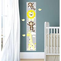 Enchanted Interiors Repositionable Jungle Height Chart Wall Stickers