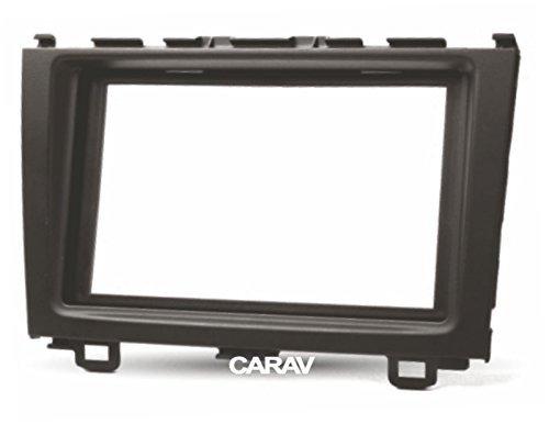 carav 07-012 Doppel DIN Radio Stereo-Adapter DVD Dash Installation umgeben Trim Kit für CR-V 2007-2011 - Schacht Trim Faszie mit 173 * 98 mm und 178 * 102 mm