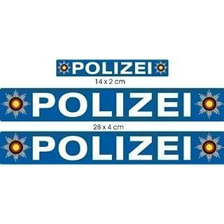 Polizei Aufkleber Set A4 - groß, Aufkleber für Auto Truck Bike Boot