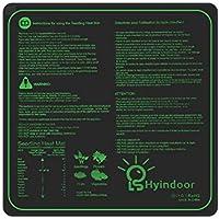 Hyindoor Almohadilla Calefactora para Plantas de Semillero Manta Térmica Impermeable de Plántuas Interior para Invernadero Hidropónico 50.8 x 50.8cm