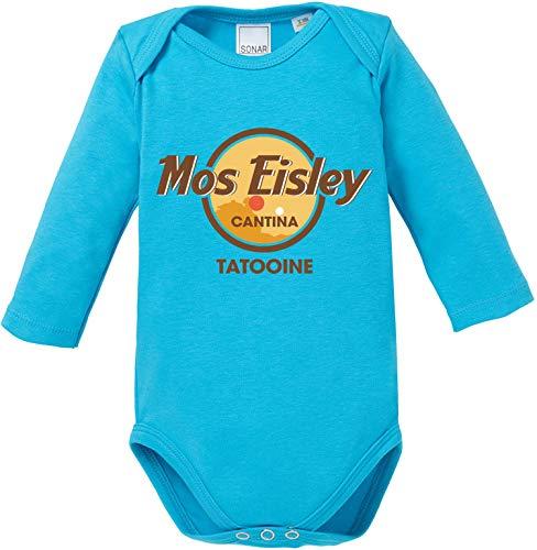 AngryShirts Mos Eisley Cantina Body Baby Langarm Bio Baumwolle (Luke Skywalker Baby-kostüm)