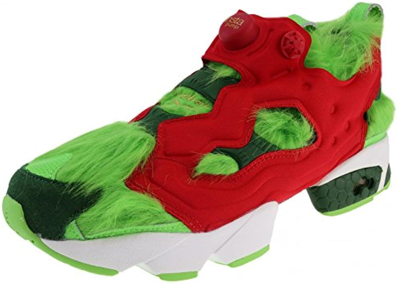Reebok Instapump Fury CV Grinch, Solar Green-Scarlet-Pine Green-Gold Metallic-White  -