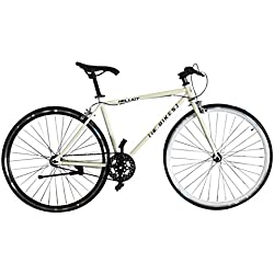 Helliot Bikes Fixie Tribeca H18 Bicicleta Urbana, Unisex Adulto, Blanco, Estandar