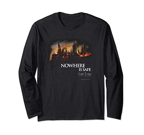 Harry Potter Burning Hogwarts Langarmshirt