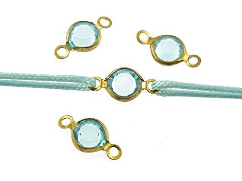 """4 Verbinder """"Aqua"""" aus Messing in goldfarben von Vintageparts, DIY-Schmuck"""