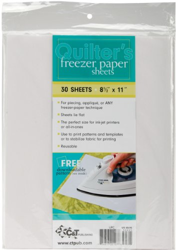 C and T Publishing 20107 Quilter's Freezer Paper Sheet