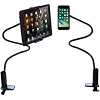 Gooseneck Tablet Stand, Bedside Phone Holder, Mobile Phone Mount   Compatible With IPad Pro IPhone Samsung Galaxy, Mini - and Other Devices Between 3.5 Inches To 7.5 Inches, Extends To 29.5 Inches