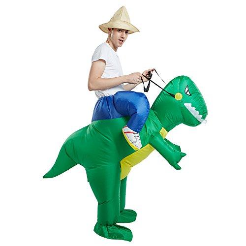 Dimmins Costume gonfiabile per Adulti da Montare Cavalcami Completo di Fantasia (Dinosaur)