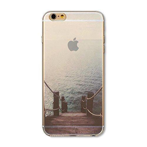 Coque iPhone 6 6s Housse étui-Case Transparent Liquid Crystal en TPU Silicone Clair,Protection Ultra Mince Premium,Coque Prime pour iPhone 6 6s-Paysage-style 4 1