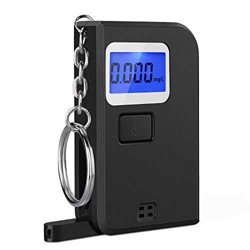 OMorc mini Keychain Alkoholtester Neu LCD Display Wiederverwendbare Polizei Breathalyzer Analyzer für Fahrer