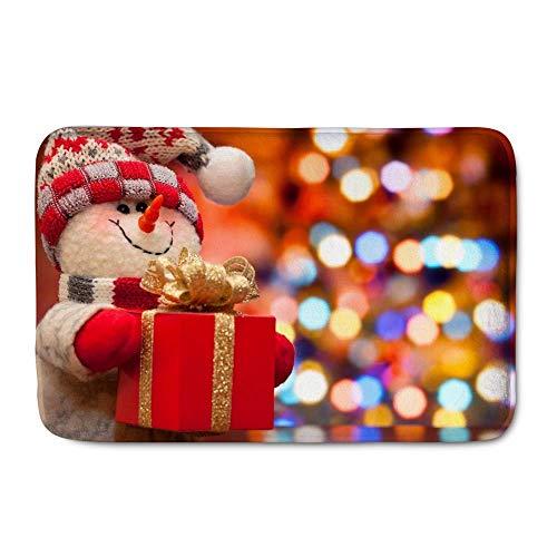 Felpudo navideño Alfombrilla franela interior / exterior