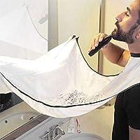Silingsan Barba Delantal, Babero para Barba con Ventosa, Dejen de Estorbar su Fregadero Capa, Deje Que su Baño de Mantener Limpio - Blanco