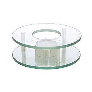 AXENTIA Round Tea Warmer Chrome/Glass 125 mm